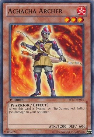 Yu-Gi-Oh! - Achacha Archer (YS13-EN014) - Super Starter: V for Victory - 1st Edition - Common