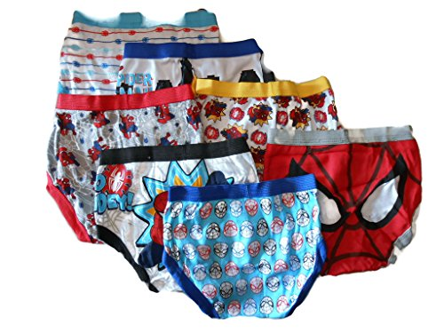 Marvel Little Boys' Spiderman Seven-Pack of Briefs (Top Couches Selling)