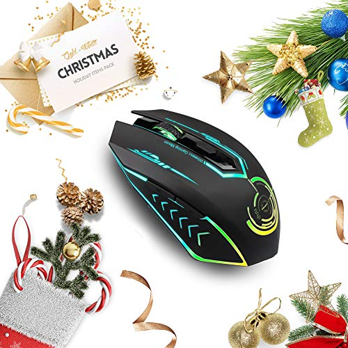 faa4f2aa125 Wireless Gaming Mouse Up to 10000 DPI, UHURU Rechargeable USB Mouse with 6  Buttons 7