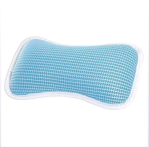 w Spa Pillow Anti Bacterial Luxurious Cushion, 2 Strong Suction Cups, Home Spa Non Slip Support for Bathtub for Adult ()