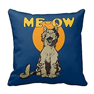 Decorative Cotton 18 X 18 Twin Sides Vintage Singing Alley Cat Throw Pillowcase