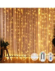 String Curtain Window Light LED USB Fairy Decoration Lights Waterproof with Remote for Holiday Wedding Party Birthday Wall Window Bedroom(300LED,10 * 3m)