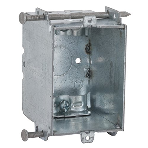 Hubbell-Raco 355 Switch Box, Gangable with Non-Metallic Sheathed Cable Clamps, 2-27/32
