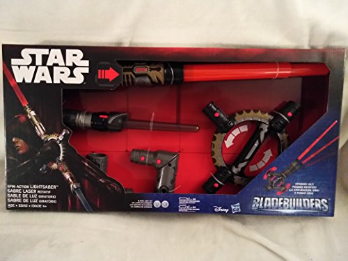 - Disney Star Wars BladeBuilders Spin-Action LightSaber Electronic Light Up Sword With Sounds With Spinning Hilt New In Unopened Box