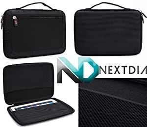 Hipstreet Equinox BT 10.1 Protective Carrying Case Semi Hard Shell with Travel Handle   Sable Black