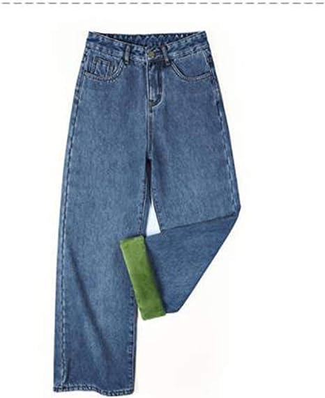 [セイーワイ] デニム パンツ ストレート レディース ハイウェスト 裏起毛 ワイドパンツ 厚手 ズボン 保温 ボトムス 着やせ シルエット あったかい かわいい