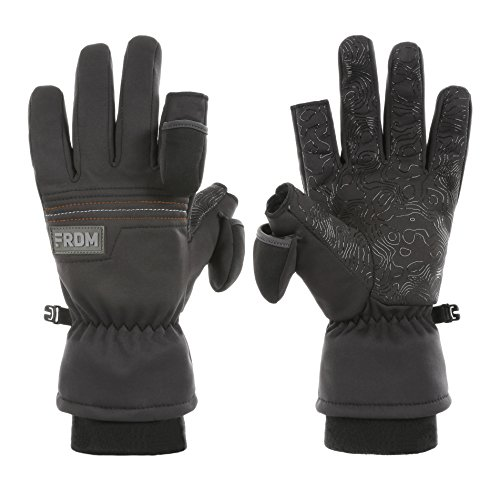 FRDM Unisex Cold Weather Gloves- Windproof, Water Resistant Fabric,Thumb & Index Finger Caps, Touchscreen