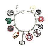 US FAMILY Avengers Movie Theme Multi Charms Jewelry Bracelets Charm by Family Brands