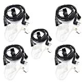 Tenq® 2 pin Covert Acoustic Tube Earpiece Headset Mic with Finger PTT for Motorola Radio Pmr446 Pr400 Mag One Bpr40 A8 Ep450 Au1200