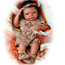 Baby Bright Cloud: Native American Style Vinyl Baby Doll by The Ashton-Drake Galleries