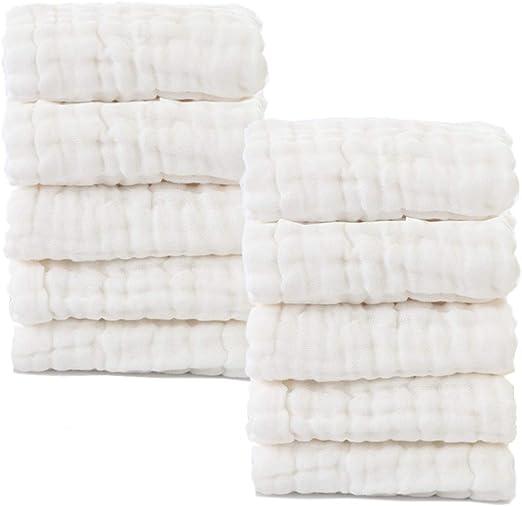 Bebé muselina paños – Natural bebé orgánico del algodón Wipes ...