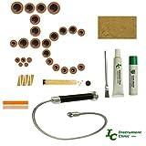 Instrument Clinic Tenor Saxophone Pad Installation Kit, with Plastic Resonators, Leak Light