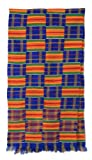 NOVICA Blue Kente Cloth Scarf, 'Tribute to Mother'