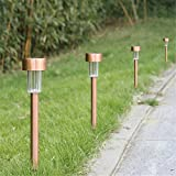Winchance Solar LED Pathway Lights Stainless Steel Solar Stake Lights Waterproof for Outdoor Garden Lawn Patio Landscape Path Driveway Décor Lighting,12 Packs Bronze