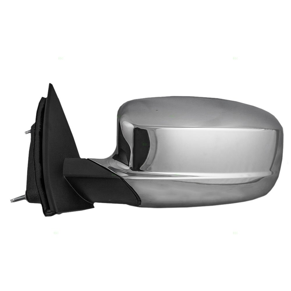 Drivers Power Side View Mirror Heated with Chrome Cover Replacement for Chrysler 68081541AD