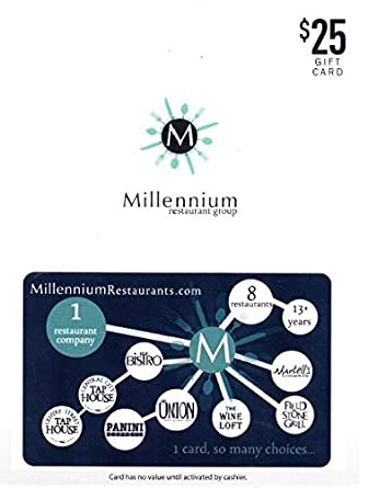 Amazon.com: Millennium Restaurant Group $25 Gift Card: Gift Cards