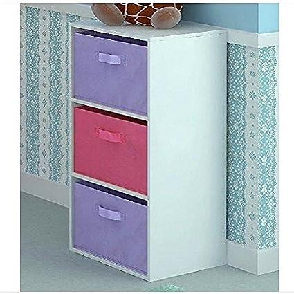 Cubos de niños armario estantería de almacenaje pecho de 3 cajones ...