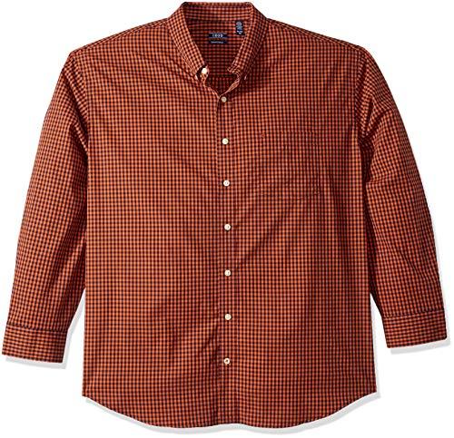 IZOD Men's Premium Performance Natural Stretch Gingham Long Sleeve Shirt (Big & Tall and Tall Slim) - Slim Stretch Shirt