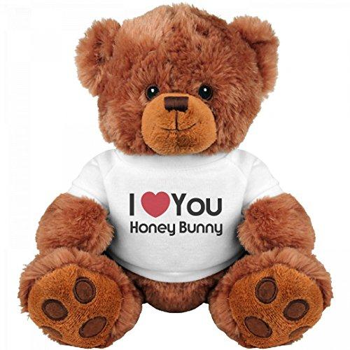 I Heart You Honey Bunny Love: Medium Teddy Bear Stuffed Animal