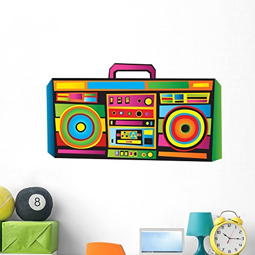 Wallmonkeys Funny Boombox Wall Decal Peel and Stick Graphic (48 in W x 34 in H) WM101516