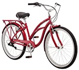 Schwinn Sanctuary 7 Comfort Cruiser Bike, Featuring Retro-Styled 16-Inch/Small Steel Step-Through...