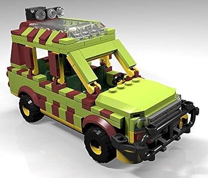 Amazon Constructibles Jurassic Jeep Lego Parts Instructions
