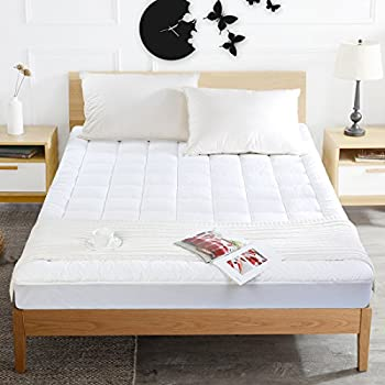 mattress pad cover down alternative mattress topper hotel luxury collection 300 thread 100 cotton