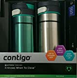 2 PK Contigo Thermal 14 oz Travel Mug Leak Spill Proof with Vacum Insulated Body