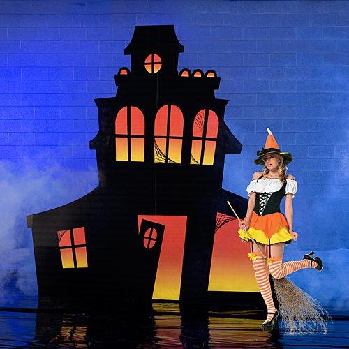 Halloween Haunted Mansion Standee Halloween Party Decoration Standup