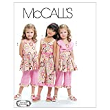 McCall's Patterns M6064 Children's/Girls' Bolero, Dress, Jumpsuit and Pants, Size CL (6-7-8)