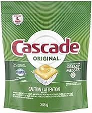 Cascade Dishwasher Pods, Detergent ActionPacs, Lemon Scent, 25 Count
