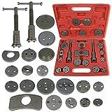 Brake Disc Caliper Wind Back Tool Kit - 21 Piece Universal Piston Rewind Set - Discs Break Pad Caliper Compressor Service Tools -