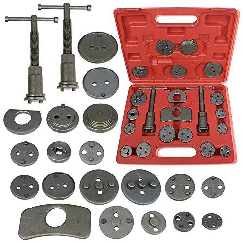 Brake Disc Caliper Wind Back Tool Kit - 21 Piece Universal Piston Rewind Set - Discs Break Pad Caliper Compressor Service Tools - (Brake Pads Service)