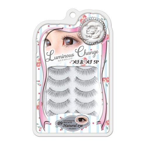 Luminouschange / Eyelashes 5p Pure Series Lb-09 Natural Eye (False Eyelash)