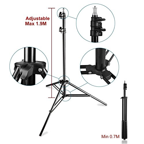 PHOTO MASTER 600W Photography Continuous Umbrellas Lighting Kit for Video Studio Includes 6x6.6ft Background Stand, 3 Backdrops, 2 Soft Umbrellas,1 Umbrella Reflector, 4 Clamps, Carrying Bags by PHOTO MASTER (Image #5)