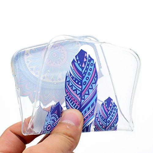 iPhone X Hülle , Leiai Modisch Windmühle TPU Transparent Clear Weich Tasche Schutzhülle Silikon Handyhülle Stoßdämpfende Schale Fall Case Shell für Apple iPhone X