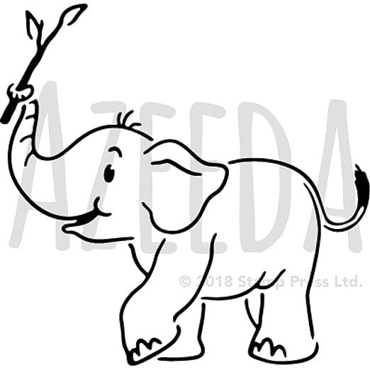 A5 Baby Elefant Wandschablone Vorlage Ws00019844 Amazon De