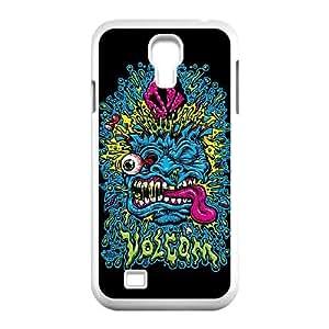 VOLCOMFACE para funda Samsung Galaxy S4 9500 funda del teléfono celular de cubierta blanca
