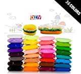 36 Colors TKOnline Colorful Kids Modeling Clay Air Dry Clay Studio Toy 36 Bright Color, Ultra Light Modeling Magic Air Dry Clay Crafts Kit with Portable Sand Tray(Portable Tray Without Inflator)
