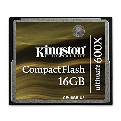 Kingston CF/16GB-U3 - Tarjeta de memoria CompactFlash Ultimate de 16 GB, 600x