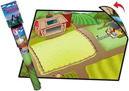 Farmland 2-Sided Playmat w/ 2 Toys