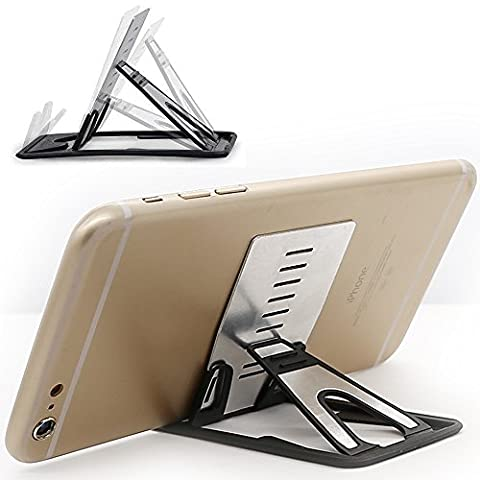iPhone Kickstand, iPad Kickstand, iMangoo Multi-angle Holder Tablet Dock Adjustable Foldable Cradle Portable Mini Desk Stand Fold-up Smartphone Stands Holders for Apple iPhone, iPad, Samsung, (Nexus 6 Case Aluminum)