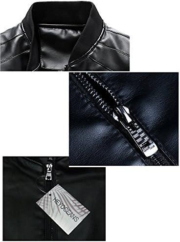 ライダースジャケット フェイク レザージャケット シングル ライダース 革ジャン ブルゾン アウター メンズ
