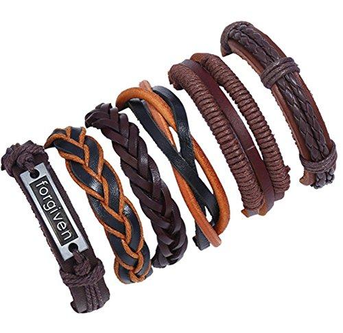 Rope Fancy Bracelet (Lovind Casual Handmade Woven Bracelet Forgiven Rope Delicate and Fancy Design for Men Women x 1 Piece)