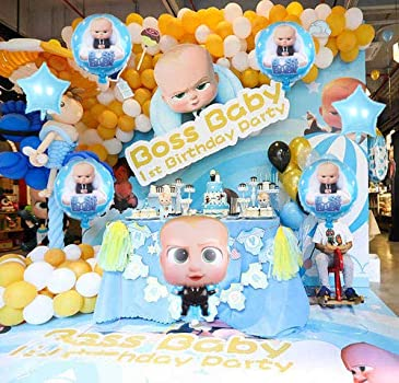 4 pcs baby boss Balloons Party Supplies,18 Inch Large Balloons,For baby boss Theme Birthday Party Decorations