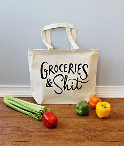 [해외]자연 색의 식료 잡화와 젠장 Xl 토트/Groceries and Shit Xl Tote in Natural Color