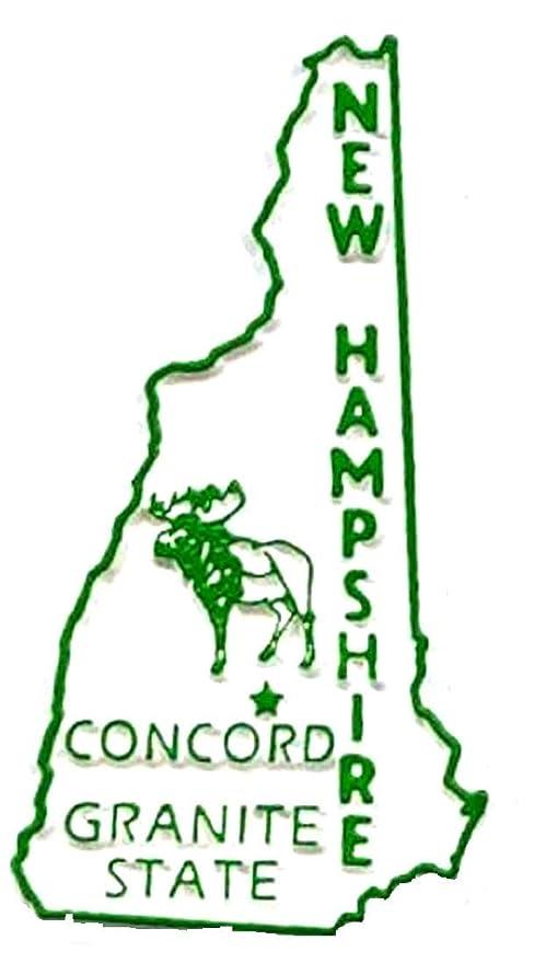 Nueva Hampshire Estado 2d PVC para nevera de coleccionista ...