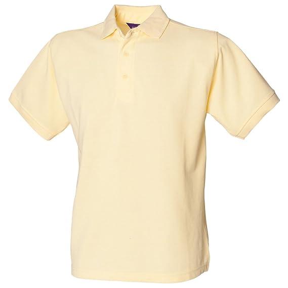 Henbury - Polo - para Hombre Amarillo Amarillo XXX-Large: Amazon ...