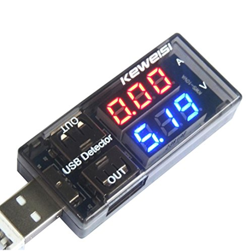 (SUKEQ USB Charger Doctor Current Voltage Monitor Charging Detector Dual USB Multi Tester for Phone Charger, Power Bank)