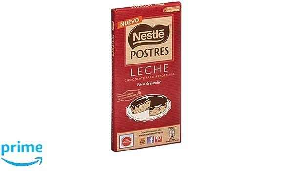 Nestlé Postres Chocolate con Leche para fundir - Tableta de ...